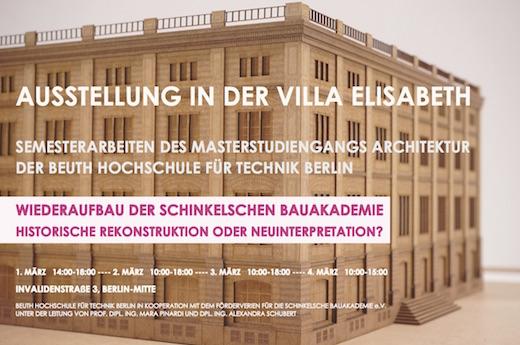 Plakat Bauakademie