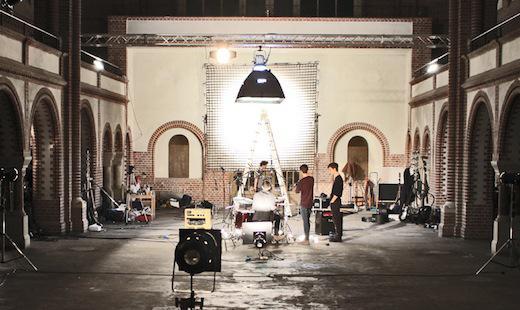 Vorbereitungen zu einem Musikvideodreh, 2014