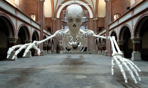 """""""Habibi"""" - Installation von Adel Abdessemet innerhalb der Art France, 2006"""