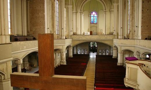 Zionskirche, Blick zur Empore (Foto: Stefan Melchior)