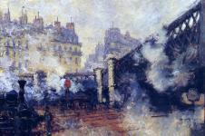 Claude Monet, Le Pont de l'Europe-Gare-Lazare, 1877, Wikimedia Commons
