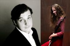 Bachs Violin-Sonaten mit Helena Winkelmann und Caspar Frantz, Foto: Neda Navaee und Magrit Müller